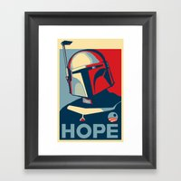 Boba Fett For President  Framed Art Print
