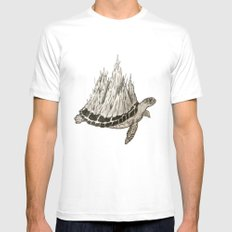 A Slow Journey  SMALL Mens Fitted Tee White