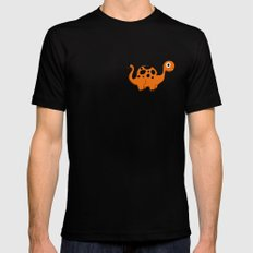 Dino Parade Black SMALL Mens Fitted Tee