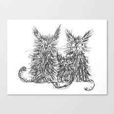 Three Cats Canvas Print