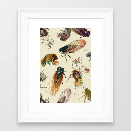 summer cicadas Framed Art Print