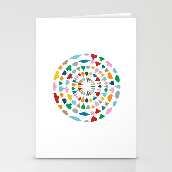 Wine o'Clock on White Stationery Card
