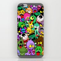 Monsters Doodles Characters Saga iPhone & iPod Skin