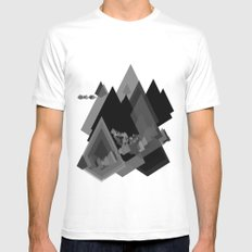 Mountains Inside White SMALL Mens Fitted Tee
