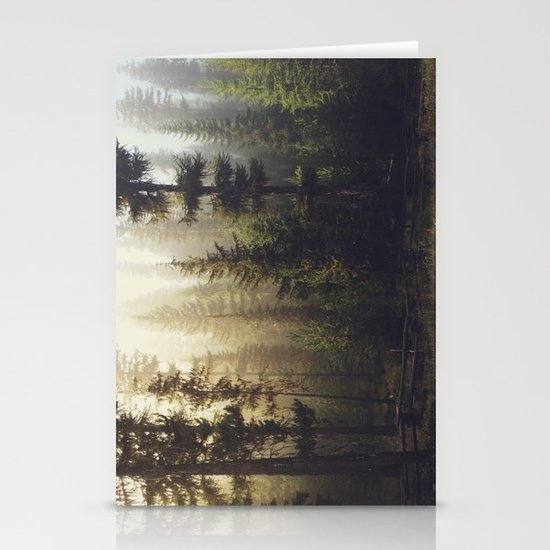 Sunrise Forest Stationery Card