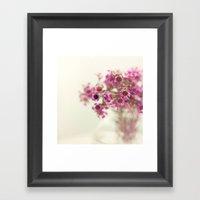 Florecitas. Framed Art Print