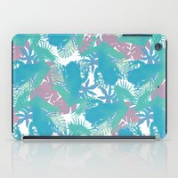 Tropical Blue Frog Patte… iPad Case