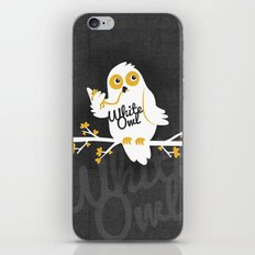 White Owl iPhone & iPod Skin