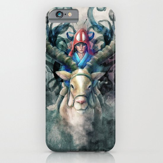 Ashitaka Demon Watercolor Digital Painting iPhone & iPod Case
