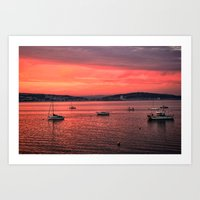 Mumbles Harbour After Su… Art Print