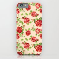 Rose pattern- cream iPhone 6 Slim Case