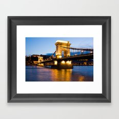 The Chain Bridge In Buda… Framed Art Print