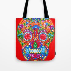 A really colourful skull Tote Bag