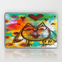 Abstract Love Owl Laptop & iPad Skin