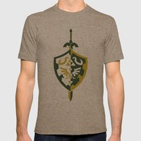 Zelda Mens Fitted Tee Tri-Coffee SMALL
