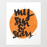 MY SUN & STARS Art Print