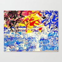 Abstract Painting  - Sun… Canvas Print