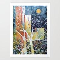 Le torri e la luna Art Print