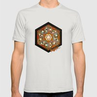 The Three Ages II Mens Fitted Tee Silver SMALL