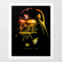 STAR WARS Darth Vader on black Art Print