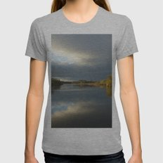 View   on the Lake Womens Fitted Tee Athletic Grey SMALL