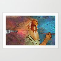 Death by Paintbrush Art Print