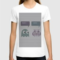 Boo! Womens Fitted Tee White SMALL