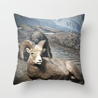 Tom Feiler Sitting Ram Throw Pillow
