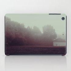 a foggy creepy morning iPad Case
