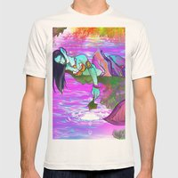 Rusalka. Mens Fitted Tee Natural SMALL