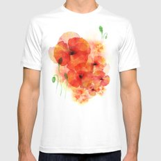 Tall poppies Mens Fitted Tee SMALL White