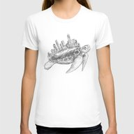Urban Turtle Womens Fitted Tee White SMALL