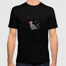 Tweet in the Snow Black SMALL Mens Fitted Tee