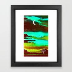 autumn night Framed Art Print
