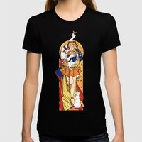 Her Codename - Sailor Venus nouveau Womens Fitted Tee Black SMALL
