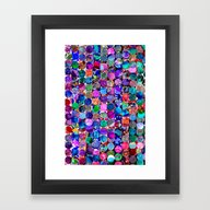 Bright Polka Dot(4). Framed Art Print