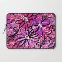 Feeling Groovy in Purplicious Pink Laptop Sleeve
