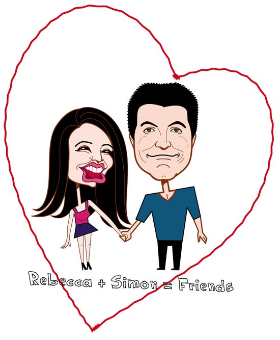 Rebecca Black and Simon Cowell are Friends Art Print