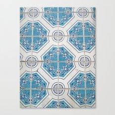 Porto Blue Tiles V Canvas Print