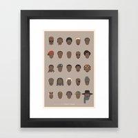 25 FACES OF SAMUEL Framed Art Print