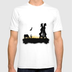 Western Cowboy And Cowgi… Mens Fitted Tee White SMALL
