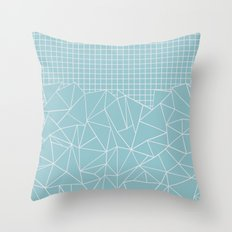 Ab Outline Grid Salty Throw Pillow