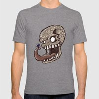 Little piece of my heart for the Giant skull Mens Fitted Tee Tri-Grey SMALL