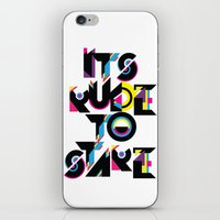 It's Rude To Stare iPhone & iPod Skin