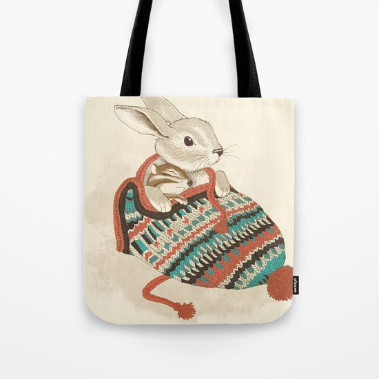 cozy chipmunk Tote Bag