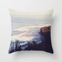 Morning Beach Throw Pillow