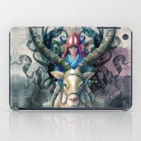 Ashitaka Demon Watercolor Digital Painting iPad Case