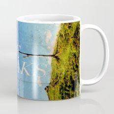Take breaks. A PSA for stressed creatives. Mug