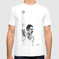 We Will Rock You Mens Fitted Tee White SMALL
