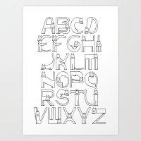 ☺ kittykitty ( ABC ) ☺ Art Print